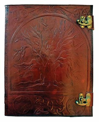 """10"""" x 13"""" Tree of Life Leather Journal"""