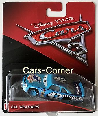 Disney Pixar Cars 3 Evolution + Cal Weathers No. 24 Mattel 2016 NEU & OVP