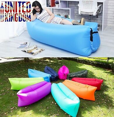 Hot Inflatable Air Sleeping Bag Hiking Sofa Beach office Lounge Hangout Lazy Bed
