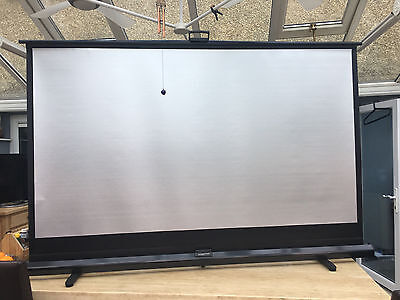 """Steverson 80x45"""" 203x114cm 3d Silver Portable Floor Pull-up Projection Screen"""