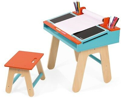 Janod Desk & Chair Orange & Blue Childrens/Kids Furniture BNIB