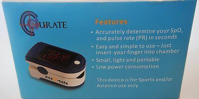 Accurate Acc U Rate CMS 500DL Gen 2 Finger Pulse Oximeter Blood Oxygen Monitor