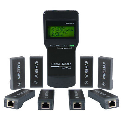 RJ45 Network LAN Length Cable Tester Meter CAT5E CAT6 Wire Track Test Tool BI643