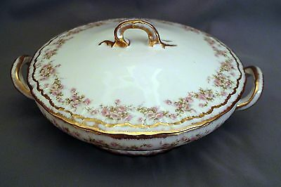 Theodore Haviland Round Covered Vegetable - Pale Pink Roses S844