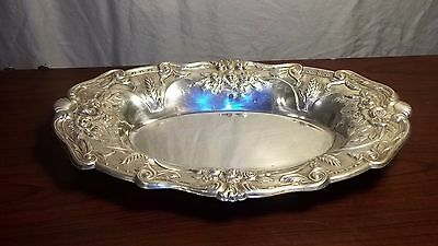 Antique Sterling Silver Entree Dish Crested Centerpiece Roses Flowers O'Devours