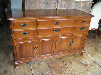 Vintage Cherry Sideboard Server Buffet w/4 Doors by Monitor Furniture - #00575