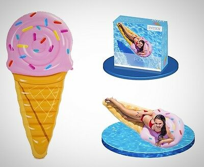 Float Toy Ice Cream Cone Pool Floating Children Adults Inflatable Water Fun