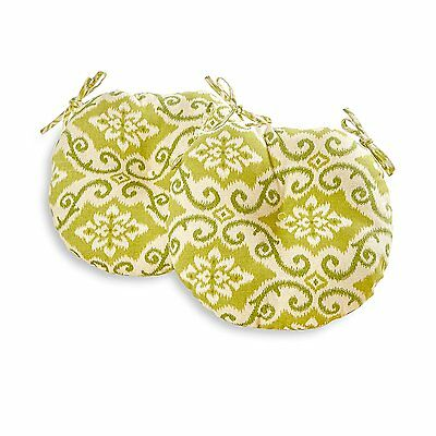 Greendale Home Fashions Round Indoor/Outdoor Bistro Chair Cushion, 18-Inch, Set