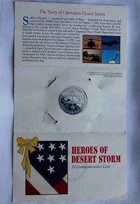 "1991 Marshall Island ""Heroes of Desert Storm"" $5 Commemorative Coin"