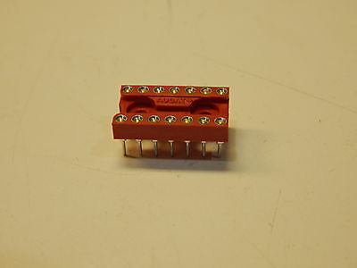 Augat High Quality 14 Machined Pin Dip Sockets Red - You Get 25 Pieces Per Lot