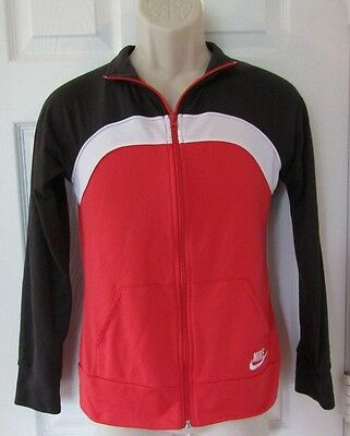 Nike DRI-FIT Boy's or Girl's Zip Up Track Jacket Size Youth XL 16 Red