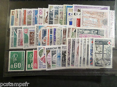 FRANCE ANNEE COMPLETE 1974, TIMBRES neufs** LUXE, VF MNH STAMPS