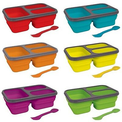 Home Collections™ 3 Compartment Collapsible Silicone Lunch Box