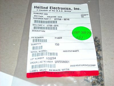 150 PCS 87758-0216 MOLEX Conn Unshrouded Header HDR 2 POS GOLD ROHS