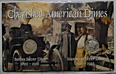 Cherished American Silver Dimes, Set of 2 Coins E15