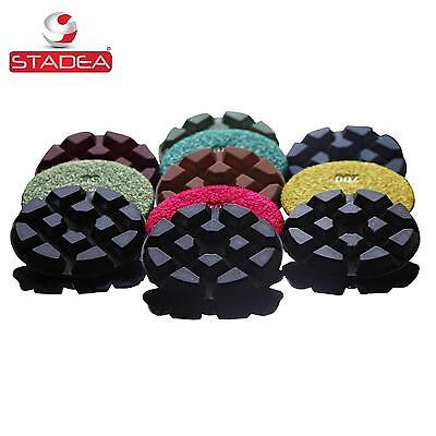 diamond floor polishing pads for concrete marble Set of 7 by Stadea
