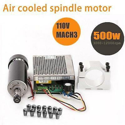 CNC Spindle 500W Air Cooled 0.5kw Milling Motor and Speed Power Converter...