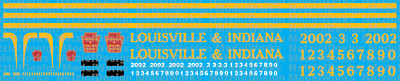 HO Scale - Louisville & Indiana Railroad Locomotive Decals