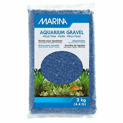Marina Decorative Marine Gravel Blue 2KG Aquarium Fish Tank Substrate