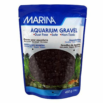 Marina Decorative Marine Gravel Black 450g Aquarium Fish Tank Substrate