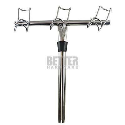 3-Way Rod Holder Right Marine Grade Stainless Steel 316 Fishing Boat Snapper