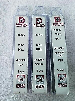 NEW! DRILLCO cutting tools magnum solid carbide burr bits lot of - 3 -   USA