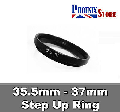 35.5mm-37 mm 35.5 to 37 Step Up Filter Ring Stepping Adapter Adaptor Black