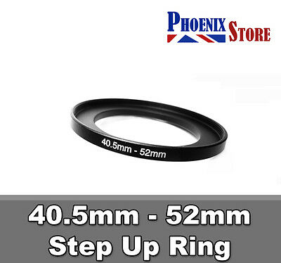 40.5mm-52mm 40.5-52 mm 40.5 to 52 Step Up Filter Ring Stepping Adapter Adaptor
