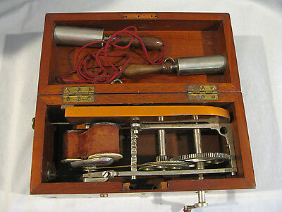 Antique DAVIS & KIDDERS STYLE MAGNETO QUACK MEDICAL MACHINE