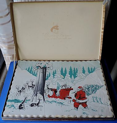Vtg box of Designer Collection G.H. Wood & Co. Special Occasions placemats 1953