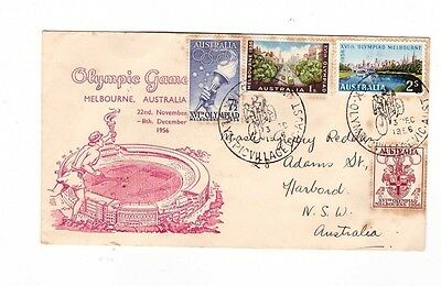 Australia 1956 OLYMPICS Cover,cds OLYMPIC VILLAGE CYCLING