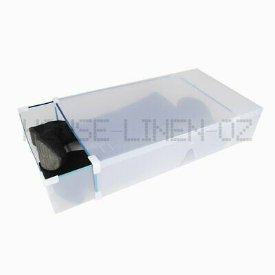 Extra Large Long Boot Clear Plastic Through Drawer Shoe Storage Box 53x30x12cm