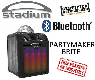 Stadium Bluetooth AUX Karaoke System Built-in Light Show Brite PA PARTYLTB *RFB*