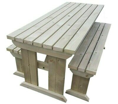 YEWS COMPACT Standard Picnic Table Bench 4FT to 8FT Handmade Outdoor Furniture