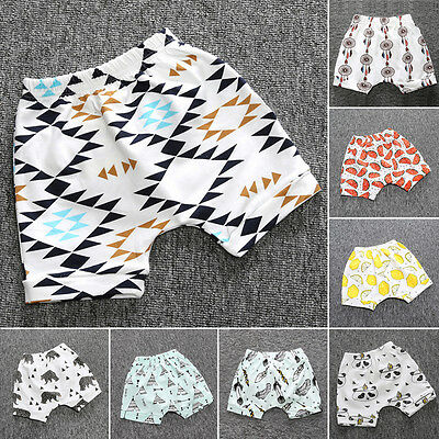 Newborn Baby Boy Girl Harem Short Pants  Baggy Trousers Bottom Summer Sleepwears