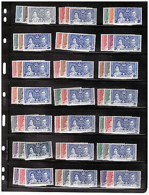 BRITISH Empire CORONATION ISSUES COMPLETE MNH COLLECTION set of 1937 STAMPS