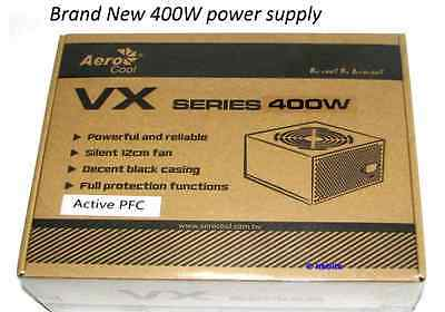 Aerocool Vx-400 Atx 400W Power Supply Active Pfc 12Cm Fan 450Mm Long Cables