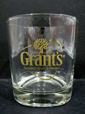 "Grants Blended Scotch Whisky Glass vgc (3 1/2"" x 3"") triangular shaped"
