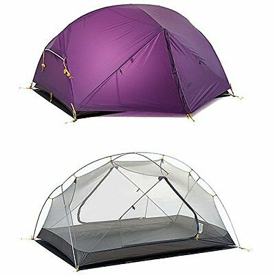 NEW 1 2 Man Person Tent Ultra Light Camping Hiking Outdoor 1.8 kg Double Layer