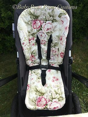 Custom Seat Liner Floral For Bugaboo Cameleon Donkey Bee Plus Bee 3 Bee 5