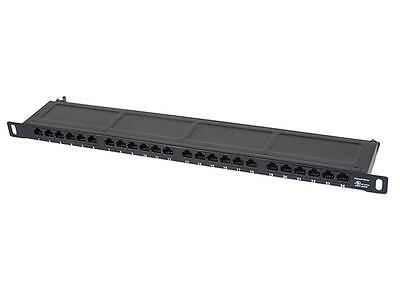 "SpaceSaver 19"" Half-U UTP Cat6A Horizontal 180° Patch Panel, 24 Ports, Dual IDC"