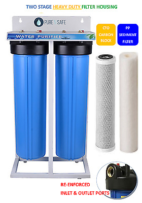 PREMIUM QUALITY Big Blue Whole House Water Filter System WITH SEDIMENT & CARBON