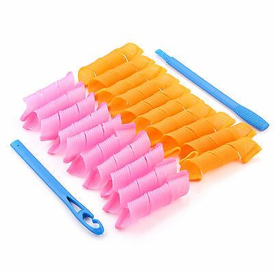 DIY Magic Hair Curlers Styling Curlformers Spiral Ringlet Hairband Tool 20 pcs