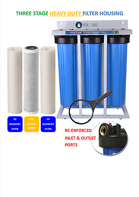 Premium Three Stage Big Blue Whole House Water Filter System