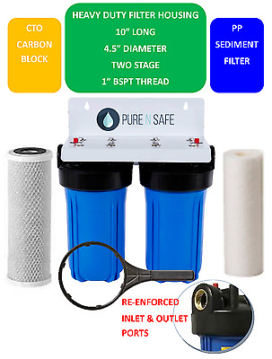 PREMIUM QUALITY Big Blue Whole House Water Filter System Compact 10 inch