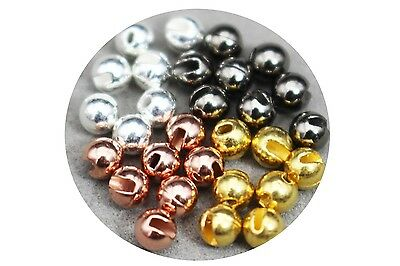 24 Pcs 4 Colors 3.3mm Nice-Designed Slotted Tungsten Beads Fly Tying Materials