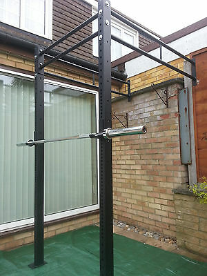 MONSTER POWER RACK WALL MOUNTED & SQUAT RIG PULL UP STATION CrossFit