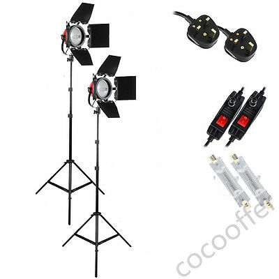 800W Red Head Continuous Lighting Light stand Kit shooting Dimmer Studio Video