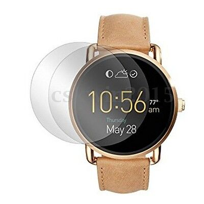 2Pcs 9H Tempered Glass Screen Protector Film For Fossil Q Wander Smart Watch