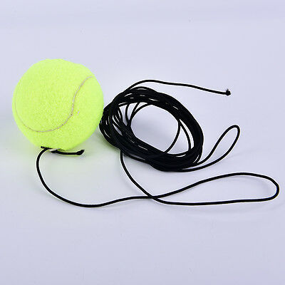 Drill Exercise Resiliency Tennis Balls Trainer With String Replacement Rubber DS